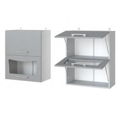 Парма шкаф верхний двойной горизонтальный со стеклом 600