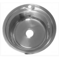 Мойка Fabia врезная круглая + большой сифон с переливом 051