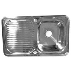 Мойка Fabia врезная 78х48, правая, толщина, 0,8 мм глубина 180 мм 62322R