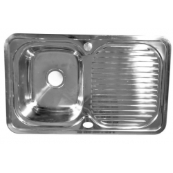 Мойка Fabia врезная 78х48, левая, толщина, 0,8 мм глубина 180 мм 62322L