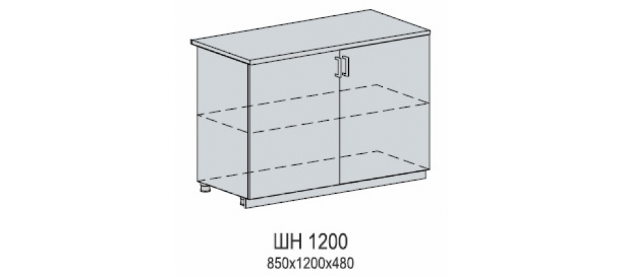 Валерия шкаф нижний 1200