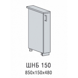 Вирджиния шкаф нижний бутылочница 150