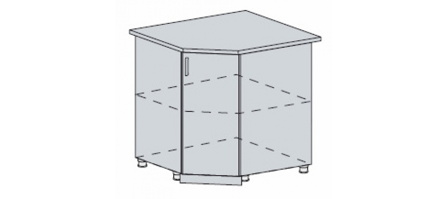 Валерия шкаф нижний угловой 890x890