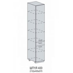 Вирджиния шкаф нижний пенал с 1 ящиком 400