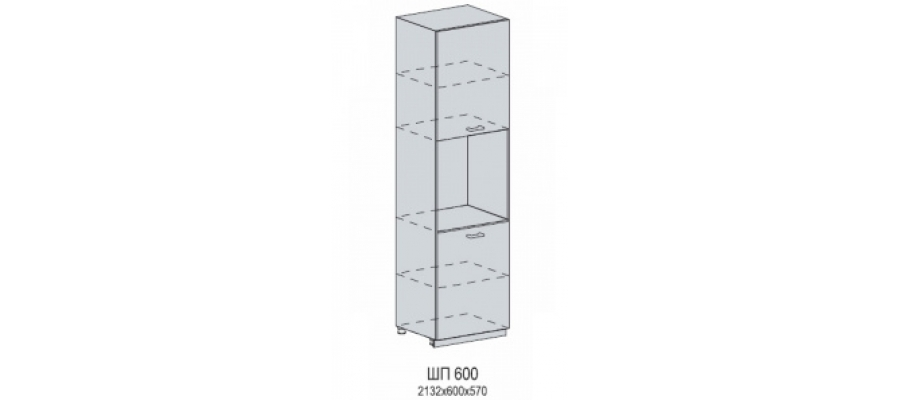 Валерия шкаф нижний пенал под духовку 600