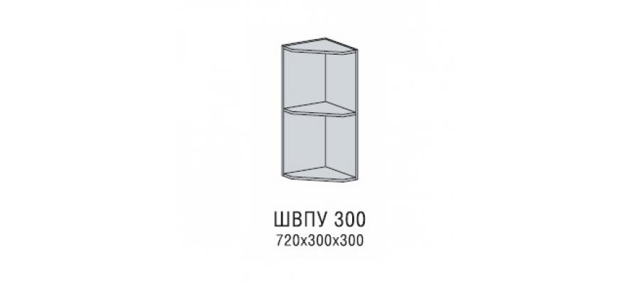 Валерия шкаф верхний полка угловая 300