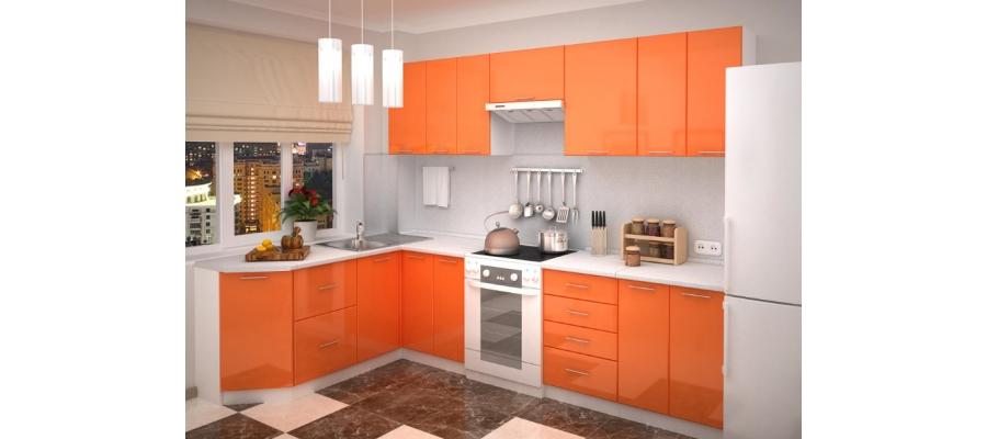 Кухня модульная - Валерия (Оранжевый)