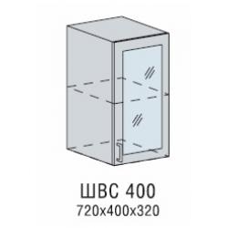 Вирджиния шкаф верхний со стеклом 400