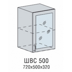 Валерия шкаф верхний со стеклом 500
