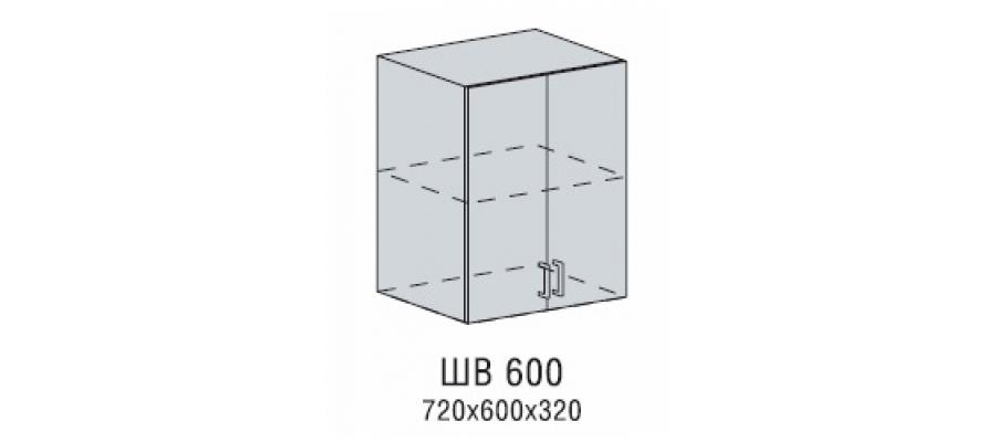 Валерия шкаф верхний 600
