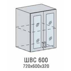 Валерия шкаф верхний со стеклом 600