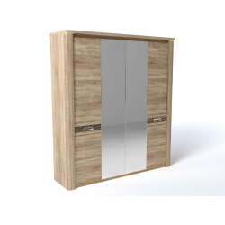 Шкаф 4-х дверный Магнолия Бардолино