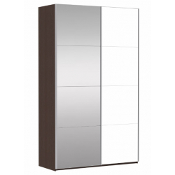 Шкаф-купе Прайм 2-х створчатый с 1-м зеркалом 1400