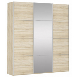 Шкаф-купе Прайм 3-х створчатый с 1-м зеркалом 2100