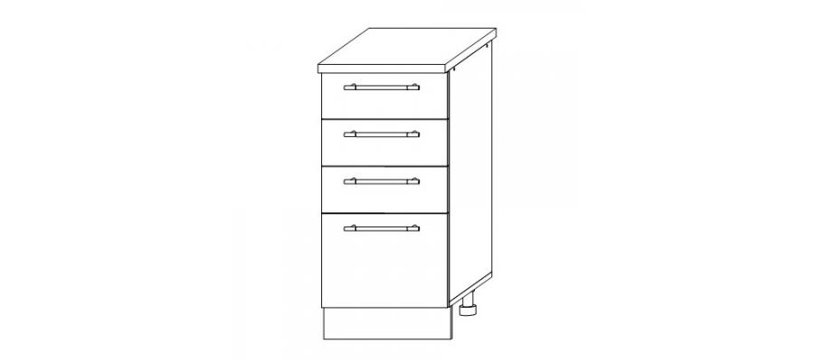 София - Гренада шкаф нижний с ящиками 400x850