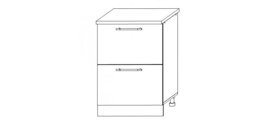 София - Гренада шкаф нижний 2 больших ящика 600x850