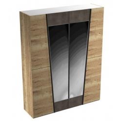 Стреза шкаф 4-х дверный с зеркалом