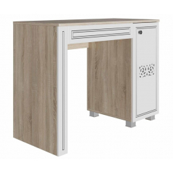Мадлен Стол туалетный дуб Сонома / белый / серебро 1000