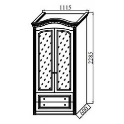 Спальня Деметра Шкаф 2-х дверный 1115