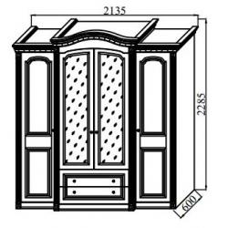 Спальня Деметра Шкаф 4-х дверный 2135