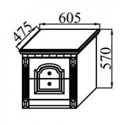 Спальня Деметра тумба прикроватная 605