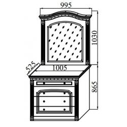 Спальня Деметра стол туалетный 1005