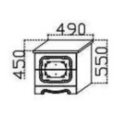 Азалия тумба прикроватная 490
