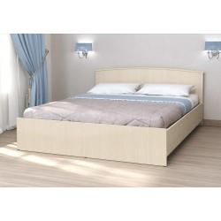 Кровать Кэт-032 Беленый дуб с настилом 1600