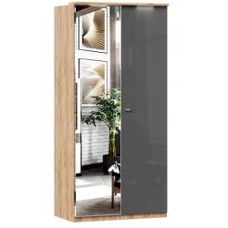 Фиджи антрацит шкаф двухстворчатый с зеркалом 1096